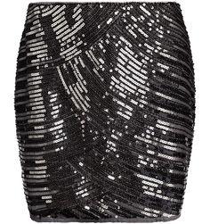 Zwart rokje met zilveren pailletten