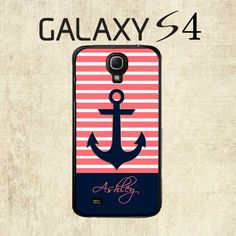 Samsung Galaxy S4 Case   Coral Stripe Anchor by mylittlecase