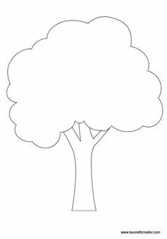 Applique Templates, Applique Patterns, Applique Quilts, Applique Designs, Tree Templates, Tree Stencil, Leaf Stencil, Daycare Crafts, Preschool Crafts