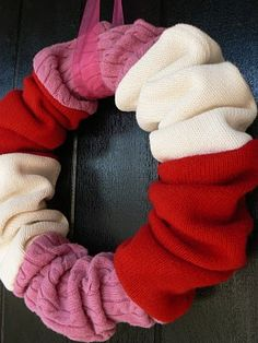The Creative Homemaker: Valentine's  Sock wreath
