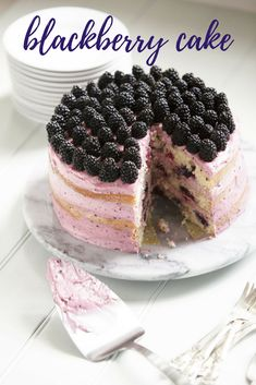 Sweet summer blackberries are the star of this three-layer cake. Even better? This delicious dessert will take less than an hour to make!