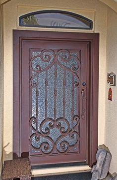 Verona Iron Entry Doors #Firstimpression & First Impression Ironworks Custom Iron Window Cover #ornamentaliron ...