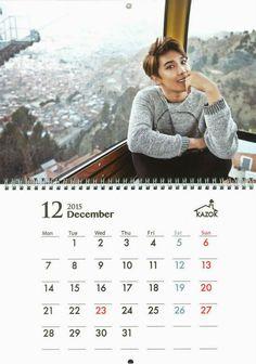 awesome Jung Min – 2015 Calendar