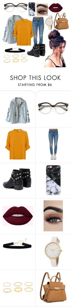 """bts miscellaneous🌹"" by hannahwalker084611 on Polyvore featuring Levi's, Senso and ZAC Zac Posen"
