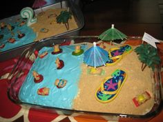 Pool party cake love the flip flops!