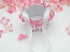 Wedding, Flower girl basket, pink flowers, ribbon handle, timelessepeony, bridal, basket, white pink pearls wedding by Timelesspeony on Etsy https://www.etsy.com/listing/249302930/wedding-flower-girl-basket-pink-flowers