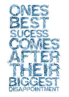 Best Success...Biggest Disappointement     Waterproof by Daniel Reuber (via Behance)