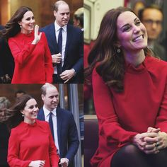 In the third pregnancy. The Duchess and her husband, on Dec 06, 2017, visited the city of Manchester on the occasion of the Children's Global Media conference in the morning and were greeted with dozens of children in great euphoria. Catherine, visibly disposed and smiling, emerged in a prince Wales coat with large buttons, by L. K. Bennett, ideal for low temperatures. Inside the place, the duchess took off her coat and was dressed in a red dress, which showed her belly.