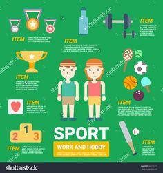 Sport Infographics Stock Vector 282775772 : Shutterstock