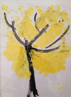 "Martina Alziati ""The tree of autumn"" 2013 Tempera on paper"
