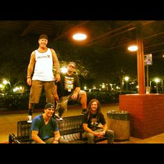 Babylon Rockers circa 2012 Standing:  Noah and Will Sitting:  Me and Tyler