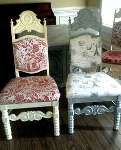 Dining room chair refinish