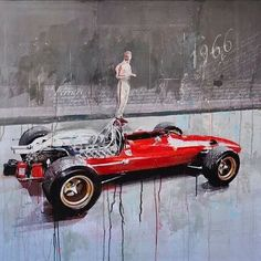 1966 #Ferrari 312 F1 painting by designer and artist Markus Haub