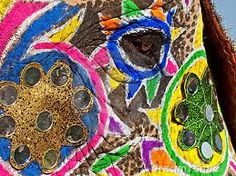 decorated elephants - Google Search