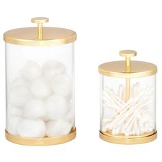 Canister Gold/Glass (Small) - Nate Berkus™ : Target
