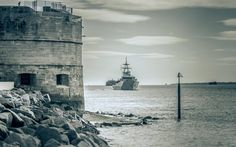 Photo by Shaun Roster. The Round Tower, Portsmouth, UK. Round Tower, Royal Navy, Portsmouth, Battleship, Hampshire, Statue Of Liberty, Past, Nautical, History