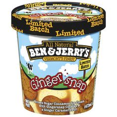 Ben & Jerrys Gingersnap Limited Batch Ice Cream, 1 pt
