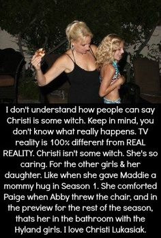 """Tbh, I couldn't have said it better. Christi Lukasiak is NOT a """"witch!"""""""