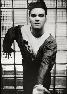 Morrissey in Cologne, Germany, during his 'Kill Uncle' tour, May 1991 ― photo by Kevin Cummins | via https://www.washingtonpost.com/entertainment/books/the-accidental-smiths-lacking-the-glue-that-binds/2012/12/12/692178ec-43b6-11e2-8e70-e1993528222d_story.html?utm_term=.090fbffebd8c