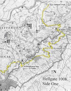 Lake Vesuvius Backpack Trail Map Google Search Backpacking Maps - Kiser lake map