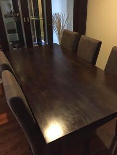 Wood Dining Table and 6 Chairs  300 neg   Dining Tables   Gumtree Australia  Knox AreaDena dining chairs   Apartment   Pinterest   Dining chairs  . Dining Table Chairs Australia. Home Design Ideas