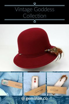 Red cloche hat, awesome gift fro the vintage lover in your life.        gifts for women who have everything