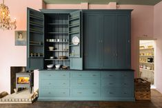Beautiful, grand and very substantial countertop cupboards in deVOL's new London showroom