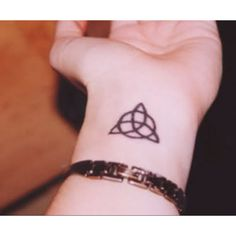 Next tattoo in that exact same spot. Triquetra balance in mind, body, and spirit.