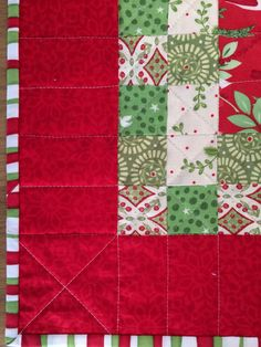 Quilting on C topper
