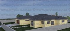 3 Bedroom House Plan - My Building Plans 3d House Plans, Garage House Plans, My Building, Building Plans, Single Storey House Plans, Double Garage, Bedroom House Plans, Story House, Open Plan Living