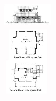 Charmant Garage Apartment Plan 73757 | Total Living Area: 319 Sq. Ft., 1 Bedroom And  1 Bathroom. #carriagehouse