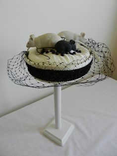 Raymond Hudd pillbox hat with mice