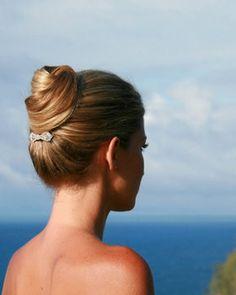 Wedding, Hair, Updo, Chignon, Up, Back, Half, Dan sanchez salon