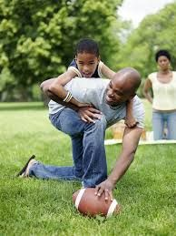 2. One of the qualities of play I chose to go with is voluntary.  Like it is stated in the playbook there assignments that we are not required to do, but we can do them just for the experience.  As shown in the picture with the dad playing football with his son, that in my opinion is completely voluntary.  That is a moment of play that will never be forgotten and it is just for the sake of doing it.