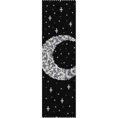 Moon & Stars Peyote Bead Pattern, Bracelet Cuff, Bookmark, Seed Beading Pattern Miyuki Delica Size 11 Beads - PDF Instant Download by SmartArtsSupply on Etsy