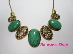 Hippie Style, Boho, Turquoise Necklace, Drop Earrings, Etsy, Vintage, Jewelry, Fashion, Craft Gifts