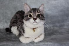 felted cats | FELTED LITTLE CREATURES