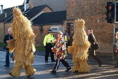 Straw Bear  Straw Bear (Strawboer) Day is an old English tradition held on the 7th of January. It is known in a small area of Fenland on the borders of Huntingdonshire and Cambridgeshire, including Ramsey Mereside. This day is believed to be traditional start of agricultural year in England.