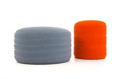 @GilesKime Tufted Wool drum stools for @Decorex_Intl @Design_Nation stand F17 #wool #makingluxury #futureheritage