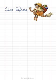 Modello di lettera alla Befana da stampare gratis n.3
