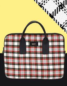 funda-portátil-cuadros-tartán-3 Tablets, Unisex, Tartan, Tote Bag, Bags, Collection, Fashion, Notebook Covers, Purses