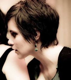 Brunette Long Pixie