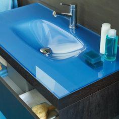 Plaza Color  | Glaswaschtisch-mit Schublade | 100cm