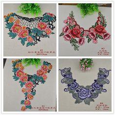 Cheap Multicolor bordado de la flor de cuello de corbata laciness tejido accesorios, Compro Calidad Encajes directamente de los surtidores de China:   Detalles del producto