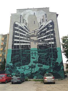 M-City by Mariusz Waras #mural #streetart #contemporaryart #trafficdesignfest #Gdynia