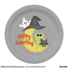 Halloween Friends party paper plate