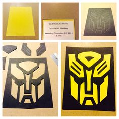 Neven's Transformer Invitation Sample. Love it. Time Consuming. Handmade.