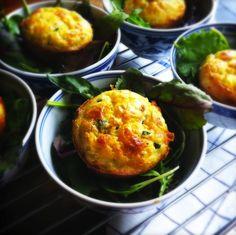 Recept hartige muffins (savoury muffins). Een heerlijke en makkelijke manier om groente in een recept te verwerken. Ook voor kinderen, Voor lunch, onderweg