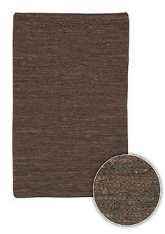 Artist's Loom Hand-woven Casual Reversible Eco-friendly Leather Rug