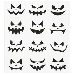 cool and fun black halloween themed assorted pumpkin face stickers for use on - Halloween Pumpkin Faces Ideas